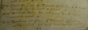 Marriage register of Samuel Richardson and Joanna Thake - Great Hormead 1632