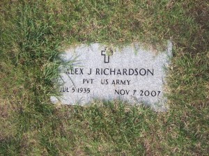 Alex Jessy Richardson Gravestone