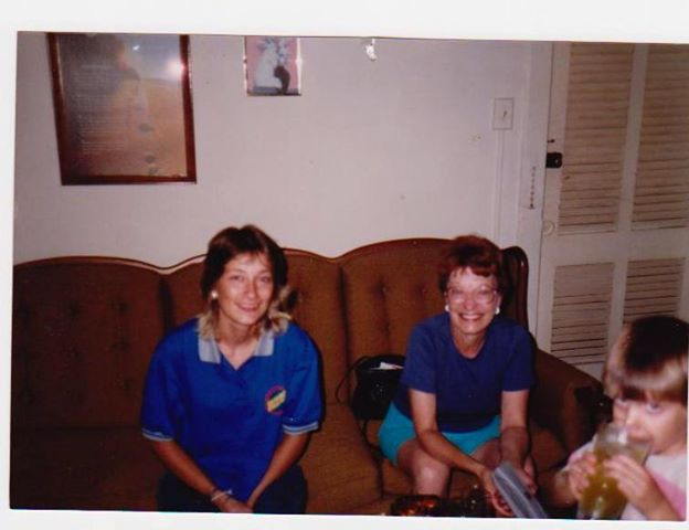 Cindy with her mother Wanda