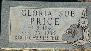Gloria Sue Price Gravestone