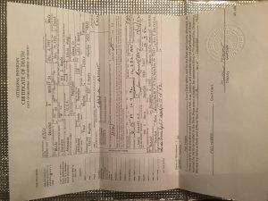 Raymond Wegley Death Certificate