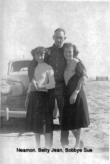 Neamon with his daughters Betty Jean and Bobbye Sue