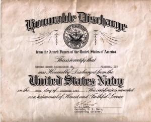 RN Navy Discharge