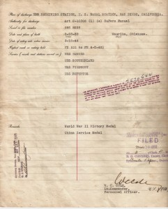 RN Record of Naval Discharge