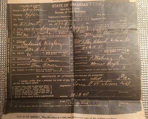 Raymond Wegley Birth Certificate