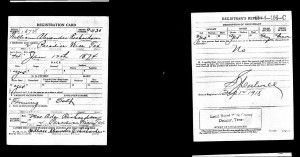 William Alexander WW1 Draft Registration Card