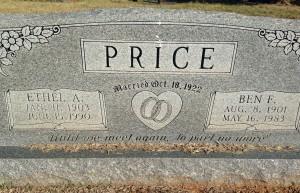 ben price headstone
