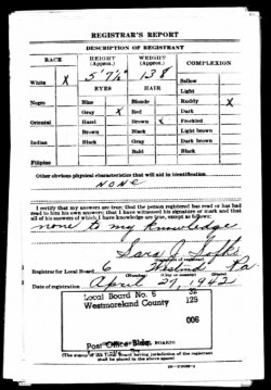 fred wegley - draft registration card wwII -2